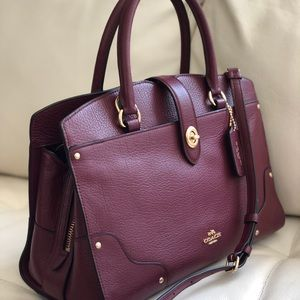 30c36d1b2 Coach Bags | Mercer Satchel 30 In Grain Leather Burgundy | Poshmark